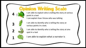 Opinion Writing Scale