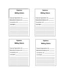 Opinion Writing Scoring Sheet- Smarter Balanced Assessment