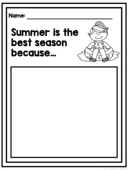 Opinion Writing: Seasons