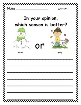Seasons (Opinion Writing)