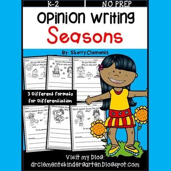 Seasons (Opinion Writing)