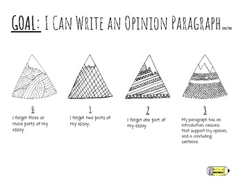 Opinion Writing - Self Scoring Rubrics