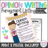 Opinion Writing Sentence Starters ANY Topic, DIGITAL & Printable