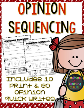 Opinion Writing Sequencing