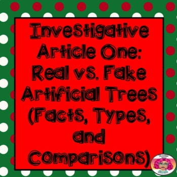 Opinion Writing: Should We Purchase an Artificial or a Real Tree this Christmas?