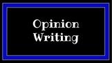 Writing Workshop: Opinion Writing Minilesson Slides -- Editable