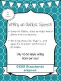 Opinion Writing: Speech