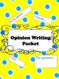 Opinion Writing Starter