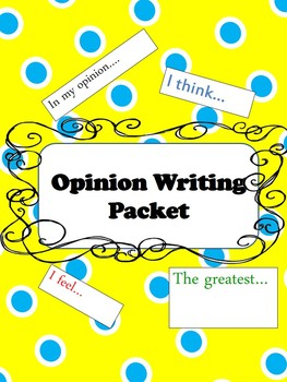 Opinion Writing Starter