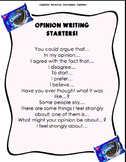 Opinion Writing Starters