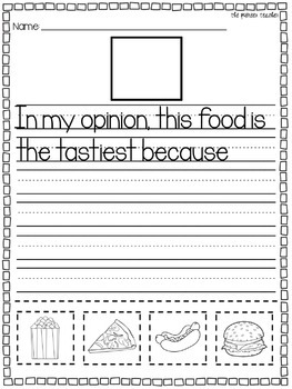 Opinion Writing Starters {3 Worksheets}