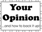Opinion Writing Steps