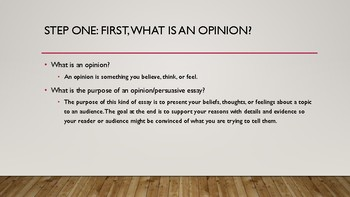 Opinion Writing Steps