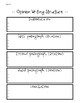Opinion Writing Structure Puzzles/Organizers/Rubric