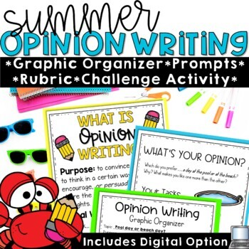 Summer Themed Opinion Writing Prompts