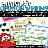 Opinion Writing Prompts Summer