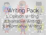 Writing Superheroes-Narrative, Informative, Opinion