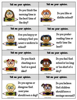 Opinion Writing Task Cards Bundle