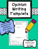 Opinion Writing Template