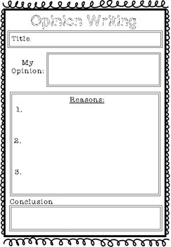Opinion Writing Template