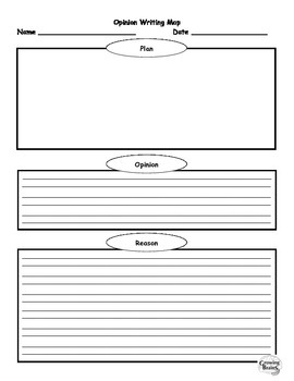 Opinion Writing Template / Graphic Organizer- 1 Page
