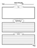 Opinion Writing Template / Graphic Organizer