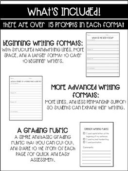 Opinion Writing Template and Prompts