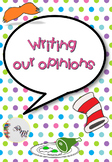Opinion Writing Templates Dr. Seuss inspired (DIFFERENTIATED)