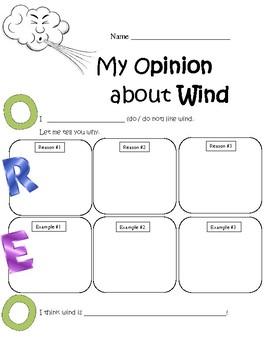 Opinion Writing Templates OREO Aligned