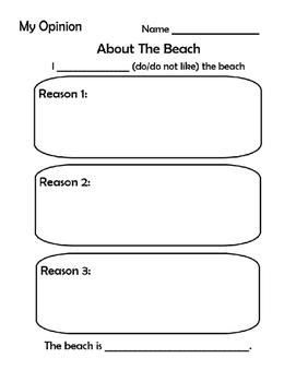 Opinion Writing- The Beach