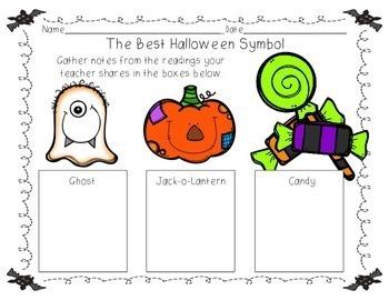 Opinion Writing:  The Best Halloween Symbol
