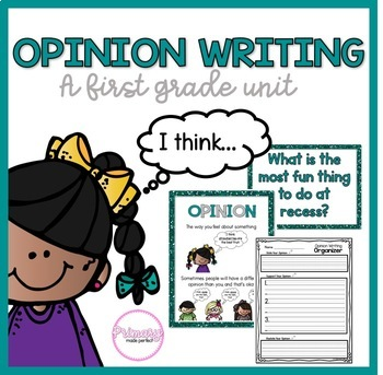 Opinion Writing Unit- Writing Center Activities and Prompts