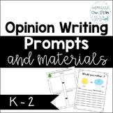Opinion Writing Prompts and Materials for K-2