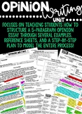 Opinion Writing Unit: Guided Notes, Sample Essays, Outlines & More