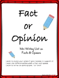 Opinion Writing Unit - Activities, Graphic Organizers, Final Copy  NO PREP