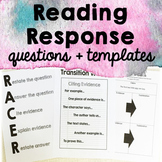 Reading Response Questions - Written Response to Text