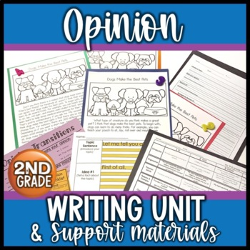 Opinion Writing Unit for 2nd Grade