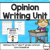 Opinion Writing Unit for 3rd and 4th Grade