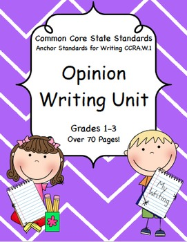 Opinion Writing Unit for Common Core