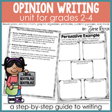 Opinion Writing Unit for Grades 2-4 (Persuasive Letter)