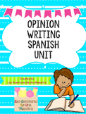Opinion Writing Unit in Spanish