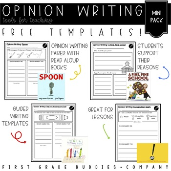 Opinion Writing | Writing Templates | Reading Response (W K.1 + W 1.1)