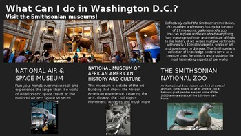 Opinion Writing- Washing DC or Florida Powerpoint