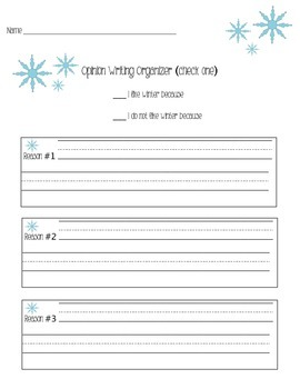 Opinion Writing - Winter