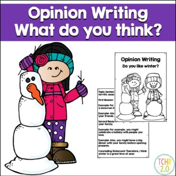 Opinion Writing Prompt Winter