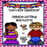 Opinion Writing Worksheets and More