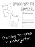 Opinion Writing Templates