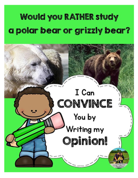 Opinion Writing: Would you rather study a polar bear or grizzly bear?