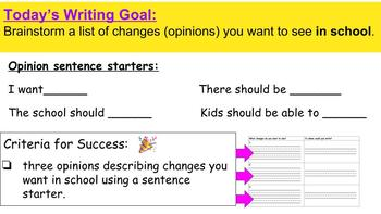 Opinion Writing - Writing Persuasive  Letters