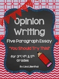 "Opinion Writing ""You Should Try This!"" Five Paragraph Essay {Common Core}"